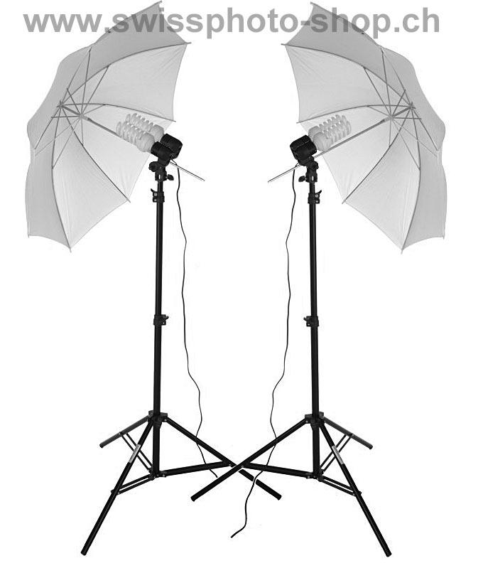 Beste Swissphotoshop - Studio Austattung - Zubehör: Duo Foto-Studio-Set DL-26
