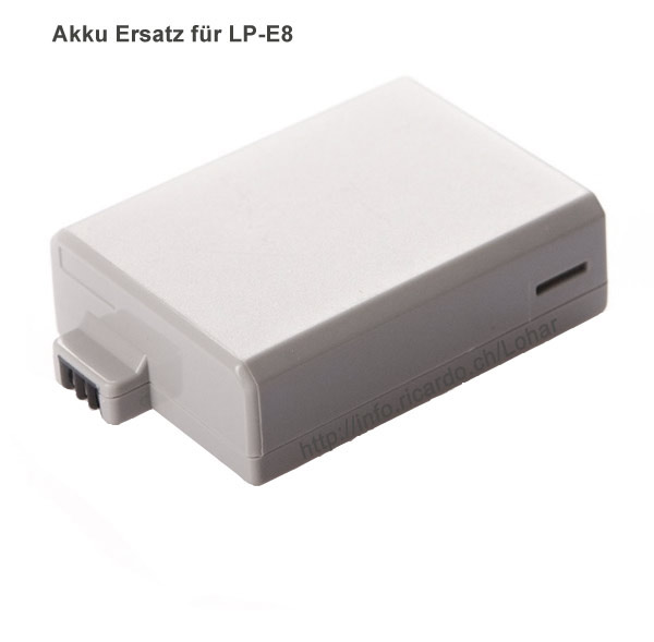 Swissphotoshop Akkus Batterien Lp E8 Akku Ersatz Für Canon Eos 700d 650d 600d 550d